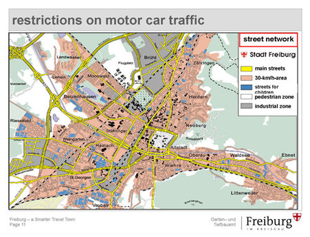Traffic Freiburg Germany a sustainable city